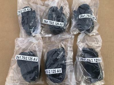 "6 Six Bicycle Inner Tubes 26x1.75 26x1.95 26x2.125 Cruiser MTB 26/"" Black Friday"