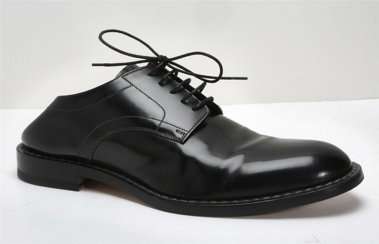 Maison Margiela Herren Schwarzes Leder Faltbar Absatz Oxford Kleid Schuhe US10.5