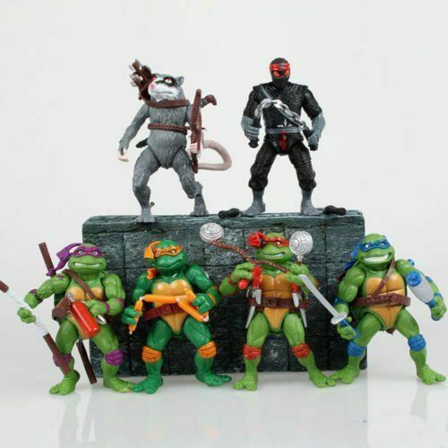 Teenage Mutant Ninja Turtles Action Figures Leo Donnie Raphael Mikey 6 Pcs set