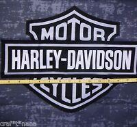 Harley Davidson Gray Fabric Panel / Remnant 20x19
