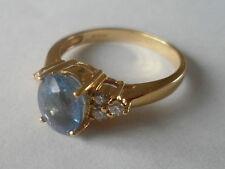 18K Oro Giallo Paraiba Tormalina & Anello Di Diamanti 1.27CT RAME BEARIN