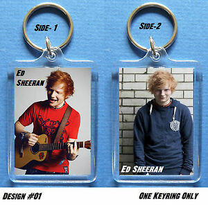 ED-SHEERAN-Key-Ring-Bag-Tag-gt-Can-be-Personalized-4-to-collect