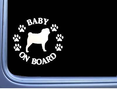 "2019 Mode Baby On Board Mops L535 6 "" Aufkleber Hund Aufkleber"