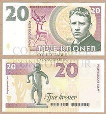Norway 20 Kroner 2016 UNC SPECIMEN Private Issue Test Note Banknote - Vigeland
