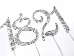 Silver-70mm-Diamante-Cake-Pick-Topper-with-Sparkly-Numbers-for-Party-Anniversary