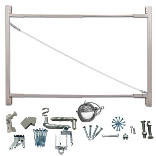 """Adjust-A-Gate Steel Frame Gate Building Kit 36/""""-72/"""" Wide Opening Up To 6/' High"""