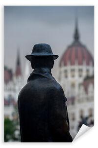 Postereck-3471-Poster-amp-Leinwand-Ungarn-Parlament-Statue-Budapest-Gebaeude
