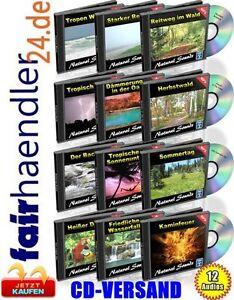 Naturgeraeusche-Paket-Vol-1-12-Audio-CDs-Kaminfeuer-Dschungel-Wasserfall-Sounds