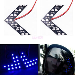 2Pcs-Blue-14SMD-LED-Arrow-Indicator-Car-Side-Mirror-Turn-Signal-Light-Universal