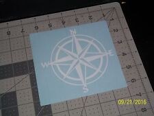 "Nautical Compass 5"" Vinyl Decal sticker laptop windows wall car boat (a)"