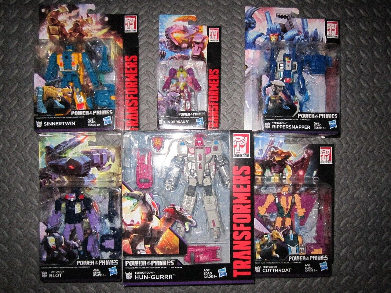Hasbro Transformers Power of the Primes Abomination Terrorcons Set New Hun-gurrr