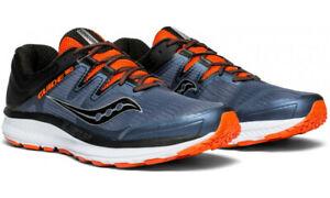 BRAND-NEW-Saucony-Guide-ISO-D-Men-039-s-Grey-Black-Orange-Size-US11