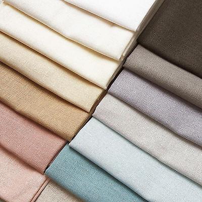Fat Quarter Essex Cotton Linen Blend Fabric by the 1//4m Rose