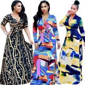 Womens Size Dashiki Traditional Graffiti Print African Ball Gown