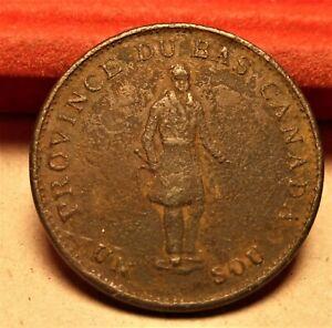 Bank of Montreal 1837 Un Sou Half Penny Habitant Token