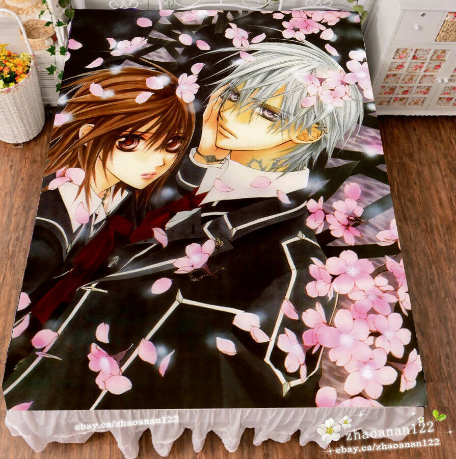 Anime Vampire Knight  Bed Sheet Throws Sheet Bedding Coverlet Gift 150200cm