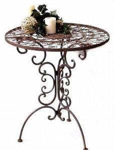table de jardin en métal fer forgé Tecla 1792 d\'appoint | eBay