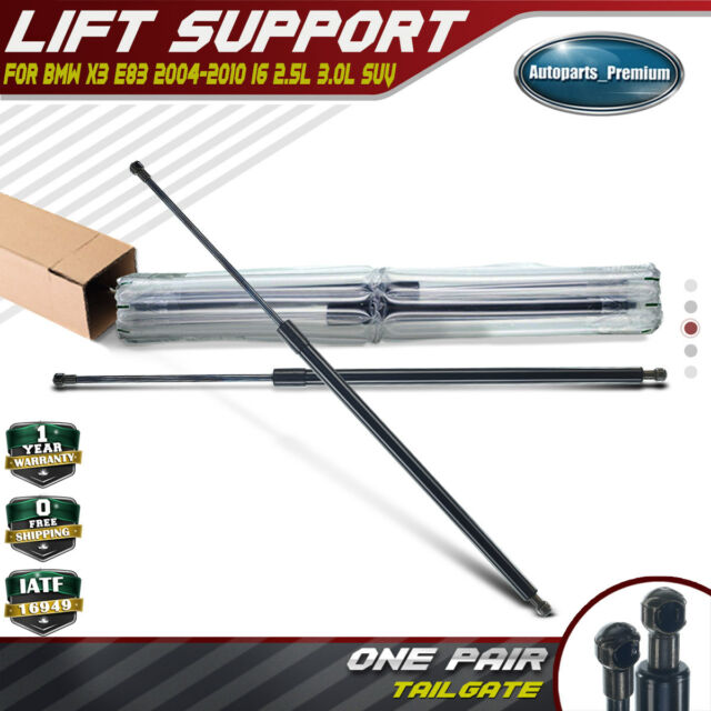2x Rear Tailgate Hatch Gas Lift Supports Shock Struts for BMW E83 X3 2004-2010