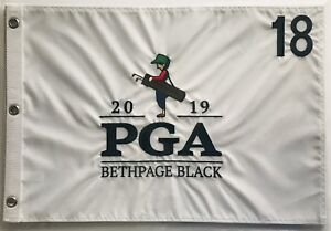 2019-Pga-golf-flag-bethpage-black-championship-embroidered-pin-flag-new