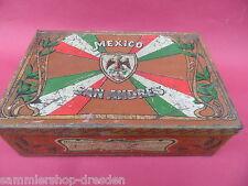 21821 Blechdose Zigarren G H Mexico San Andres Jugendstil berieben bekratzt