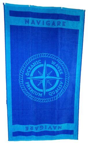 Navigare Blue Compass Jumbo Towel Large Bath Sheet 100/% Cotton High Quality