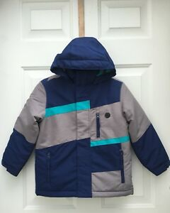 7a24c49efed7 ATHLETECH Boys 3 in 1 Blue Gray Jacket Winter Coat XS 4 5 NWT 50 ...