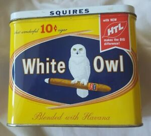 Vintage White Owl Squires Cigar Tin Ebay