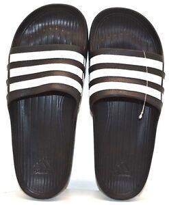 ffe1f8bc3ed1d6 Adidas Duramo Slide Black   White US Size 9 - FREE SHIPPING - BRAND ...