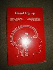 HEAD INJURY MARSHALL, SADLER & BOWERS 1981