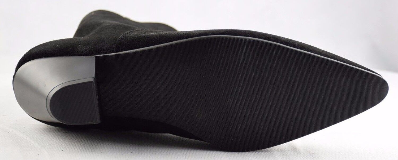 des des des bottes en daim noir acier a terre talon cubaine a sb041z4 zip bottines 44af9f
