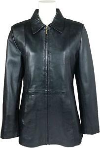 UNICORN Femmes Trois quarts Longueur Manteau Réel cuir
