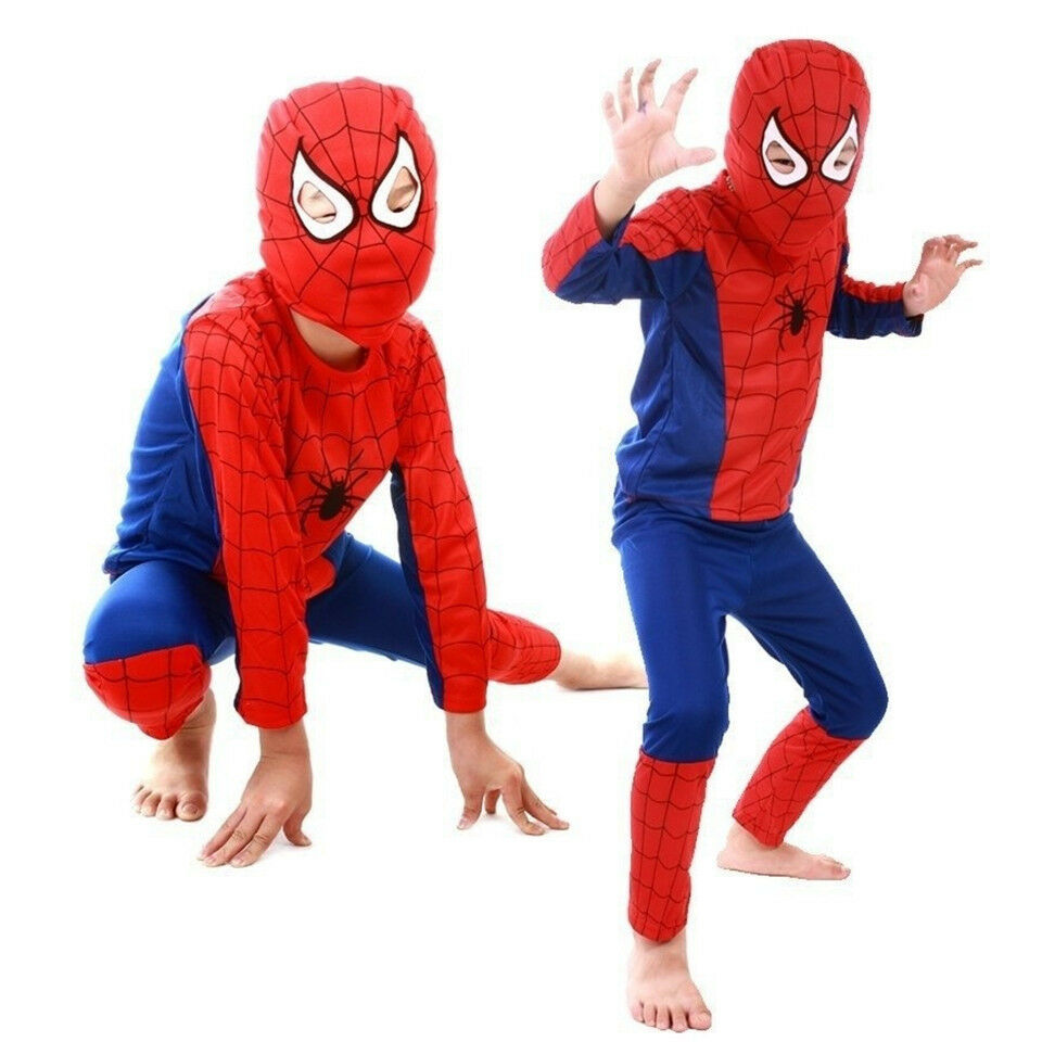 Boys 3Pcs Set Spiderman Fancy Dress Outfits Cosplay Party Co