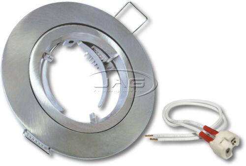 FIXED FIXTURE 12V MR16 240V GU10 LAMPHOLDER DOWNLIGHT FITTING HOUSING GIMBAL