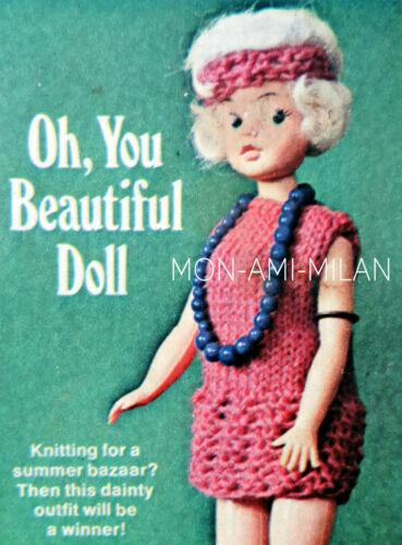Vestido De Boda Sindy//Barbie 4ply-copie Muñeca Tejer patrón