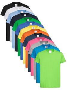 Plain-Cotton-Kids-Childrens-Boys-Girls-Childs-Boys-Girls-Tee-T-Shirt-Tshirt