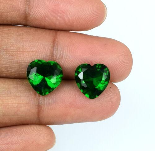 Colombian Emerald Loose Gemstone Pair Heart Shape Natural 5.75 Carat Certified