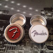 UK POST 2 X FENDER Tins For Storing Guitar Plectrums Picks RED & WHITE LABE