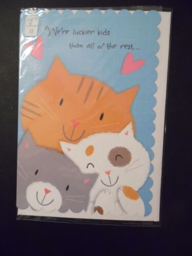 """Happy Mother/'s Day Card with Envelope /"""" We/'re Luckier Kids /"""" MD-127"""