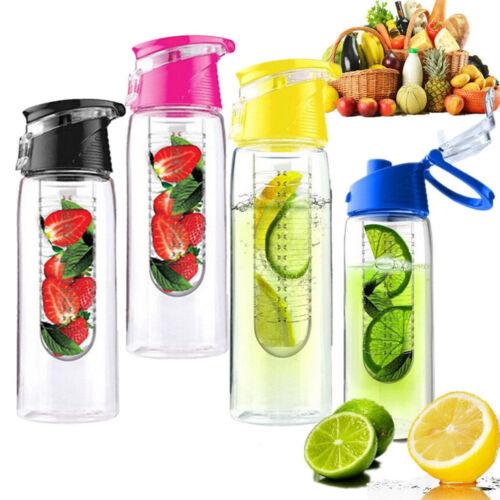 USA 700ML Sport Fruit Infusing Infuser Water Lemon Juice Health Bottle Flip Lid