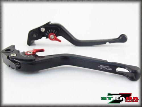 Triumph TIGER 1050 Sport 2007-2016 Strada 7 Long Carbon Fiber Inlay Levers Black