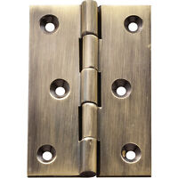 Antique Brass Fixed Pin Hinges 3 L X 2 W on sale