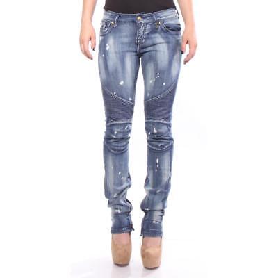 Saint Marc Jeans Blue Storm Slim Skinny Women Blue New
