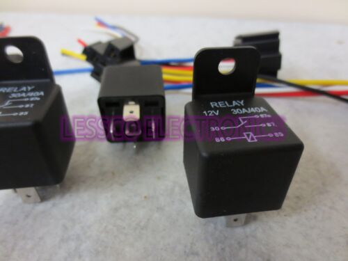 Heavy Duty 12v 30//40 Amp Relays SPDT with Prewired Sockets Lot of 6 12 Volt