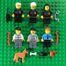 Lego Lot POLICE MINIFIGURES Complete Set #7498 Police Station Jail Prisoner Dog