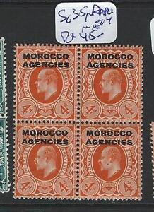 MOROCCO AGENCIES (B1001B) KE 4D SG 35A BL OF 4 MNH