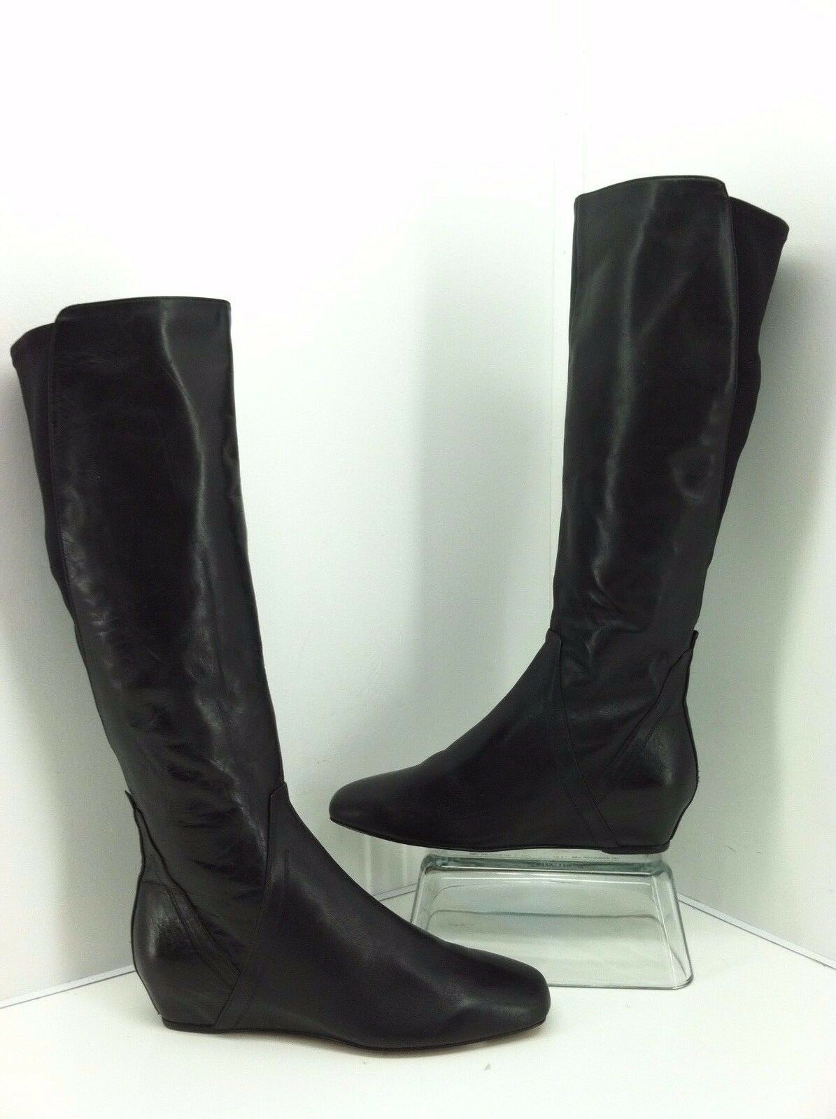 DONALD J PLINER Patrice Boots Size 7.5 M  Knee High Wedge Black