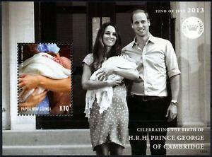 Bien Papouasie-nw-guinée 2013 Naissance Royale Prince George Neuf Sans Charnière M/s #d75681-afficher Le Titre D'origine MatéRiau SéLectionné