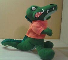 "Albert Gator University of Florida Mascot Green & Orange Letter Shirt Plush 11"""