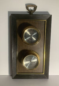 Vintage Springfield Instruments Weather Station Barometer Thermometer Humidity