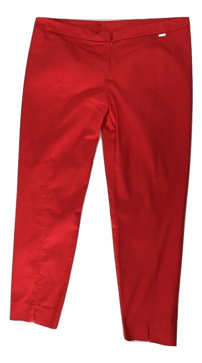 Ladies Cannella Made in  Red Capri Trouser It 50 US 14 NEW